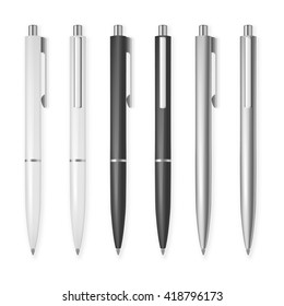 Set of vector pens.