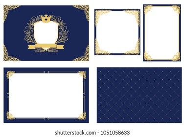 Bluegoldroyal Stock Illustrations Images Vectors
