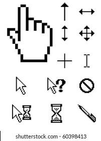 set of vector pixel cursors