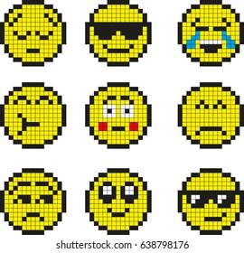 Emoji Pixel Art Images Stock Photos Vectors Shutterstock