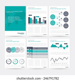 Set of vector poster infographic templates. Abstract background for business documents, flyers, posters and placards with infographics.