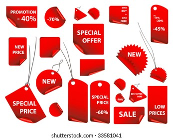 set of vector price tags