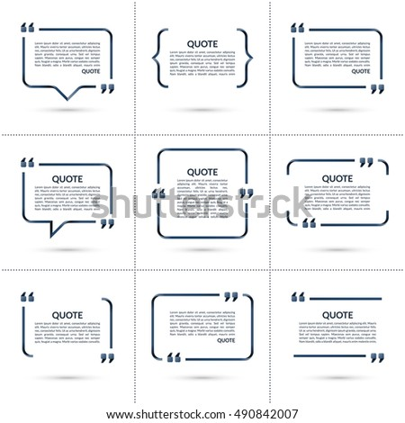 set vector quote templates speech bubble のベクター画像素材