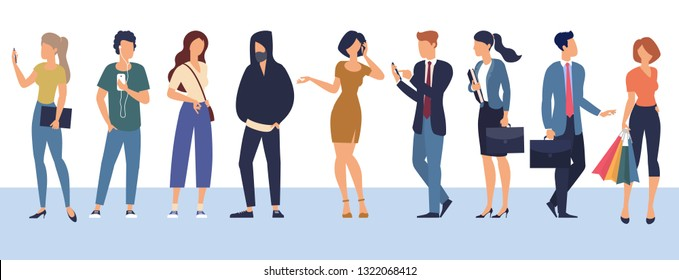 Set of vector ready to animation people characters  performing various activities. Group of men and women flat design style cartoon characters isolated on white background.
