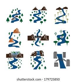 Set of vector rivers