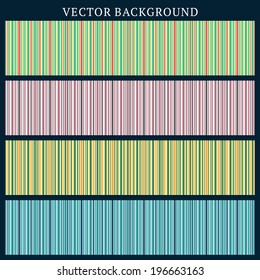 Set of Vector Seamless Backgrounds. Stripped Background in Different Colors