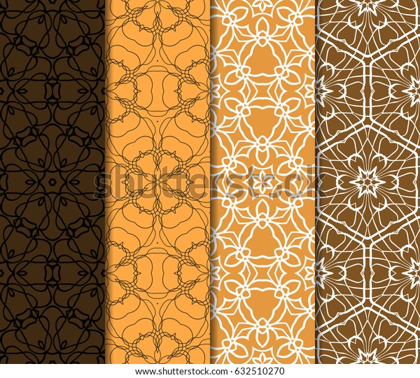 set of vector seamless pattern. modern geometric texture. endless background