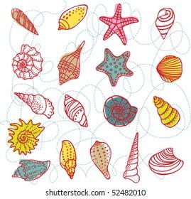 Set of vector shells