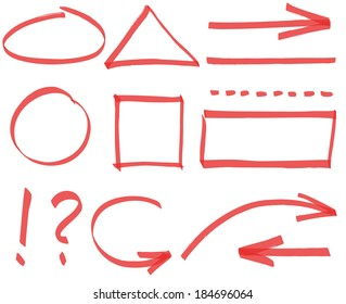 Set of vector simple design elements