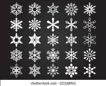 Set of vector snowflakes. File is in eps10 format.