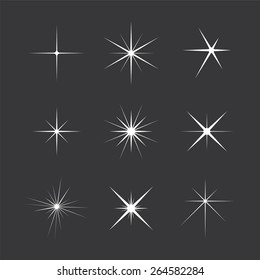Set of Vector Sparkles Star