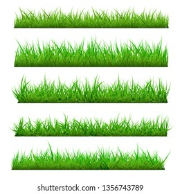 Set of Vector Spring Grass