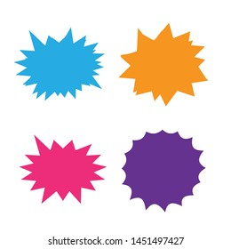 Set of vector starburst, sunburst badges. Starburst isolated icons set