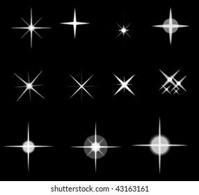 set of vector stars