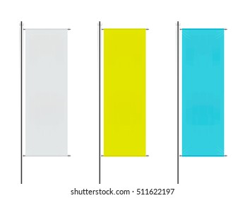 set of vector street banners