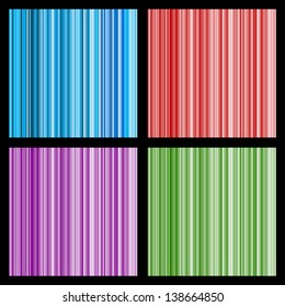 Set of vector striped seamless patterns eps8