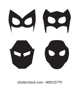 Set of vector super hero masks