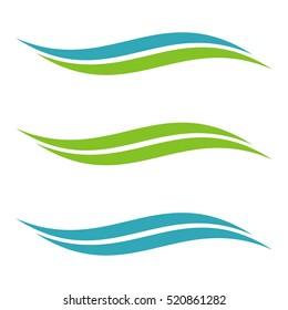 Set Vector Swoosh Accent Logo Template Illustration Design. Vector EPS 10.