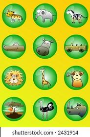 Set of vector symbols (Safari)