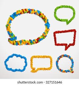 set vector talk bubble frames made stock vector 327151646 shutterstock