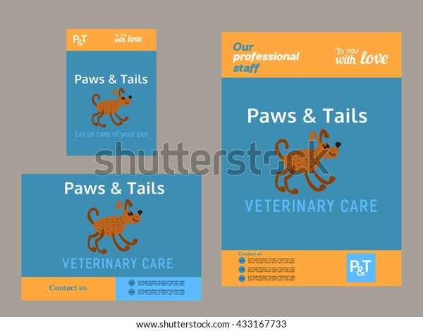 Set Vector Templates Brochure Flyer Template | Royalty-Free ... on veterinary referral form template, we love your pets template, veterinary job application template, veterinary new client form template, veterinary newsletter ideas, veterinary medical form template,