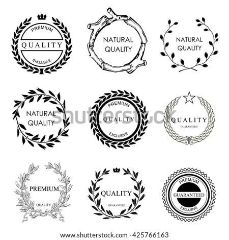 Set Vector Templates Logos Icons On Stock Vector Royalty Free