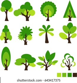 Set vector of trees.