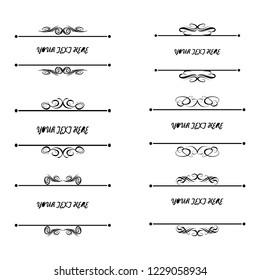 set of vector vintage frames on a white background