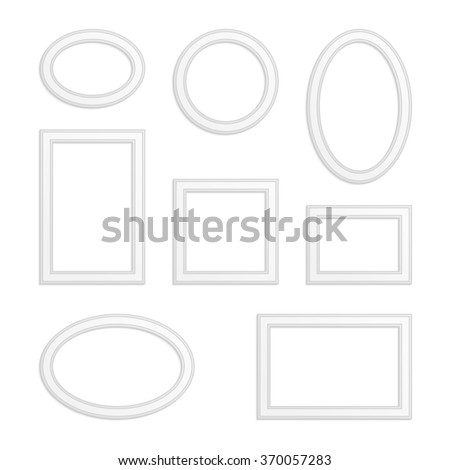 2940938c3b Set Vector Vintage Wooden Frames Realistic Stock Vector (Royalty ...