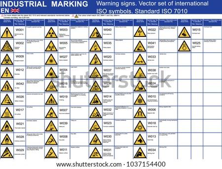 Set Vector Warning Signs Symbols Icons Stock Vector Royalty Free