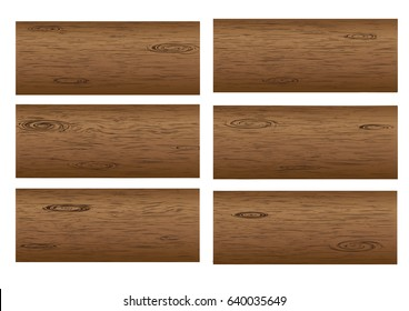 Set of vector wood texture backgrounds, variety colors and texture grain included