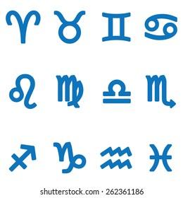 Set of vector zodiac signs