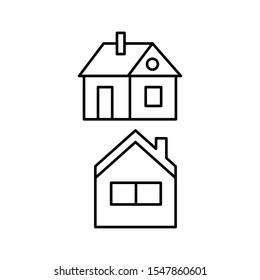 Set of vectors icons with house with pipe
