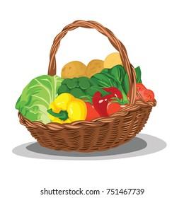 Vegetable Basket Images Stock Photos Vectors Shutterstock