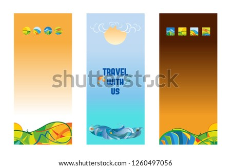 Travel Promotion Banners English Study Banners