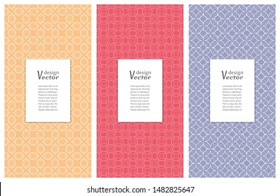 Set of vertical seamless line patterns. Colorful geometric backgrounds collection. Endless repeating linear texture for wallpaper, packaging, banners, invitations, business cards, fabric print