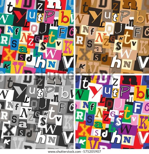 Set Vibrant Multicoloured Monochrome Sepia Kidnapper Stock