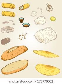 Set of Vietnamese ingredients