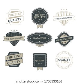 Set of vintage badges and design elements vector image