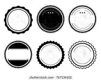 Set of vintage badges. Vector illustration.