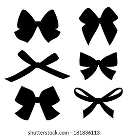 Set of vintage bows