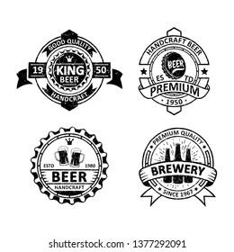 Set of vintage brewery badges labels, emblems and logo