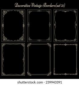 Set of Vintage decorative borders and frames.