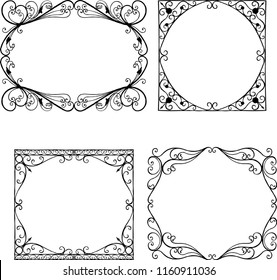 Set of the vintage decorative frames