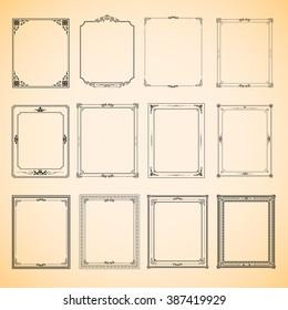 Set of vintage frame  vector design