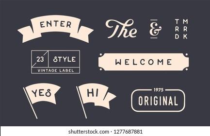 be7ee5082a00 Set of vintage graphic. Design elements