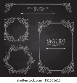 Set of vintage graphic elements. Vector illustration