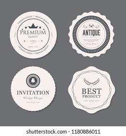 set of vintage label old fashion badge. banner illustration vector.