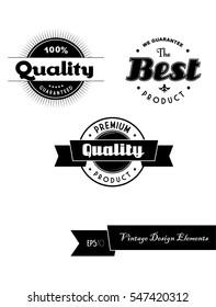 Set of vintage labels.