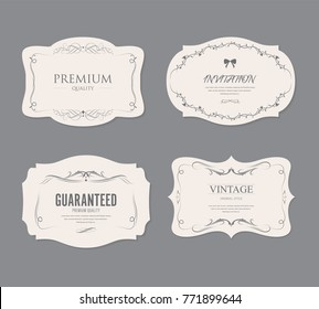 set of vintage labels old fashion. banner illustration vector.